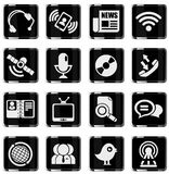 komunikacyjny ikony ikon milo część set Zdjęcia Stock