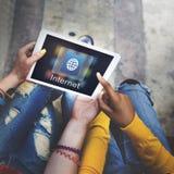 Komunikacyjny Podłączeniowy sieci kuli ziemskiej pojęcie fotografia royalty free