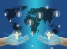 komunikacyjny pojęcia sieci socjalny świat ilustracji