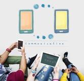 Komunikacyjny sieci telekomunikacyjnej technologii pojęcie Obraz Royalty Free