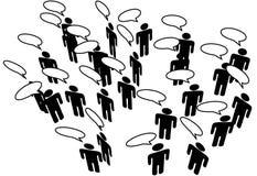 komunikuje łączy ogólnospołecznych sieci medialnych ludzi ilustracji