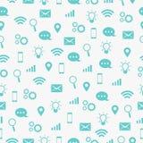Komunikuje ikona Bezszwowego wzór Zdjęcie Royalty Free