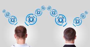 komunikuje innych ludzi dwa ilustracja wektor