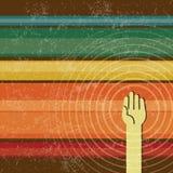 Komunikuje jeden rękę w retro stylu ilustracji
