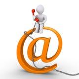 Komunikuje z my emailem lub telefonem ilustracji