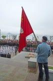Komunistyczna demonstracja w Rosja, Zdjęcie Royalty Free