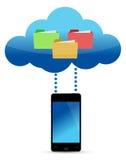 Kon de aansluting van de gegevensverwerkingstechnologie Stock Foto's