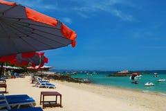 Kon Larn plaża Fotografia Royalty Free