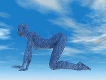 kon poserar yoga Royaltyfria Bilder