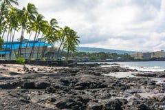 Kona海滩,夏威夷 免版税库存图片