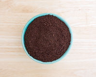 Kona coffee ground beans in a bowl Royalty Free Stock Photo