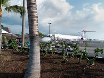 Kona för kommersiell flygplats för öppen luft stor ö Hawaii Royaltyfria Foton