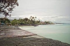 Kona harbor sea waves in big island. Hawaii Royalty Free Stock Photo