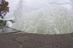 Kona harbor sea waves in big island Royalty Free Stock Image