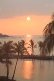 Kona Hawai sopra i bungalow del overwater dell'acqua immagine stock libera da diritti