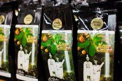 Kona kaffe, Hawaii Arkivfoto