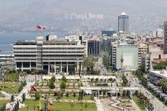 Konak fyrkant av Izmir, Turkiet Arkivbilder