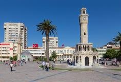 Konak fyrkant, Izmir, Turkiet Royaltyfria Foton