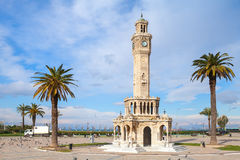 Konak Square street view with old clock tower, Izmir Stock Photos