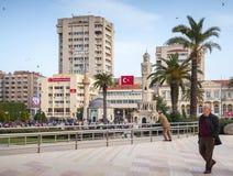 Konak Square with walking people, Izmir Stock Image