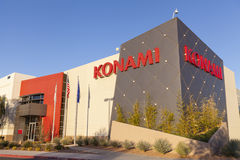 Konami Gaming en Las Vegas, nanovoltio el 19 de abril de 2013 Imágenes de archivo libres de regalías