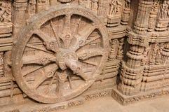 Konarak Temple. Stone wheel in the ancient Sun Temple at Konark, Orissa, India Royalty Free Stock Images