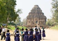 konarakdeltagare sun tempelet Fotografering för Bildbyråer