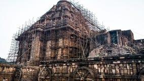 KONARK słońca świątynia, BHUBANESHWAR, ODISHA, INDIA OCT 21, 2018 zdjęcia royalty free