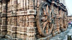 KONARK słońca świątynia, BHUBANESHWAR, ODISHA, INDIA OCT 21, 2018 fotografia stock