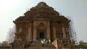 Konark soltempel - arkitektonisk skönhet av Indien Arkivbild
