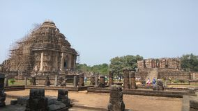 Konark soltempel - arkitektonisk skönhet av Indien Arkivbilder