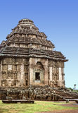 Konark Sun Temple. Ancient Hindu Temple at Konark, Orissa, India. Large stone building with domed roof, famous for its erotic carvings Royalty Free Stock Images