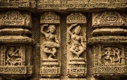 Konark tempel Fotografering för Bildbyråer