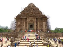 The konark temple. royalty free stock images