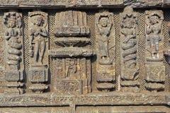 konark temple religijnej rzeźby Obraz Royalty Free