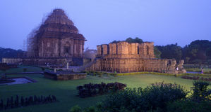 Konark Temple after the Sunset. Stock Images