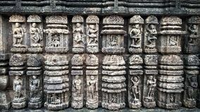 KONARK-ZONtempel, BHUBANESHWAR, ODISHA, OCT 21, 2018 VAN INDIA royalty-vrije stock foto