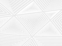 Koncentracja biali geometryczni kształty na szarym tle Obrazy Stock