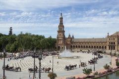 Koncentracja frachty w Seville obraz royalty free