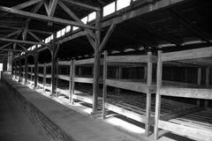 Koncentracyjnego obozu wewnętrzny koszary fotografia royalty free