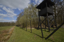 Koncentracyjnego obozu zegarka wierza Fotografia Royalty Free
