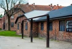 Koncentracyjny Auschwitz obóz Zdjęcia Stock