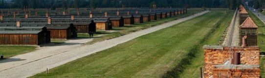 Koncentracyjny obóz Auschwitz Birkenau obraz royalty free