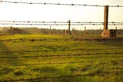koncentration för auschwitz birkenauläger Arkivfoto