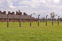 koncentration för auschwitz birkenauläger arkivbild