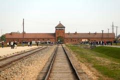 Koncentrationsläger Auschwitz Birkenau Arkivbild