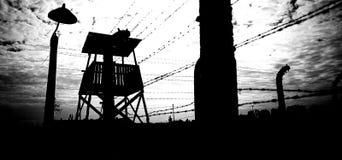 Koncentrationsläger Auschwitz Birkenau Royaltyfria Foton