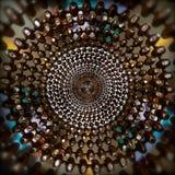 Koncentrisk abstrakt cirkelmodell av pärlor Arkivbild
