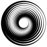 Koncentrisk cirkel, cirklar Passande som en abstrakt designbeståndsdel stock illustrationer