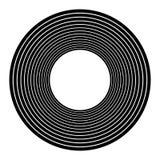 Koncentriska cirklar, koncentriska cirklar Abstrakta radiella diagram vektor illustrationer